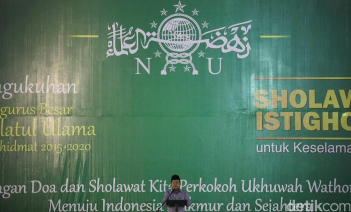Pengukuhan Pengurus Besar Nahdlatul Ulama Masa Khidmat 2015 - 2020 berlangsung di Masjid Istiqlal, Jakarta, Sabtu (05/09/2015). Dalam pengukuhan ini, hadir pula Wakil Presiden Indonesia Jusuf Kalla. Grandyos Zafna/detikcom