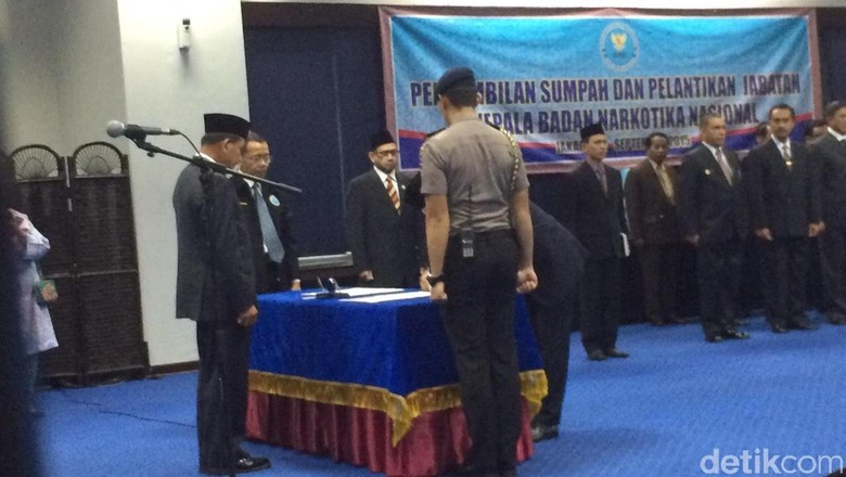 Dilantik Kapolri, Komjen Budi Waseso Resmi Jabat Kepala BNN