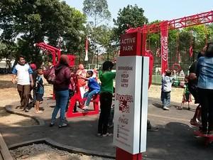 Asik, Taman di Bandung Ini Dilengkapi Fasilitas Fitnes