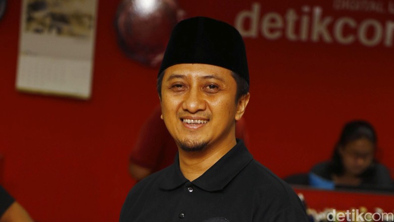 Ustaz Yusuf Mansyur saat berkunjung ke kantor detikcom (Foto: Dikhy Sasra)