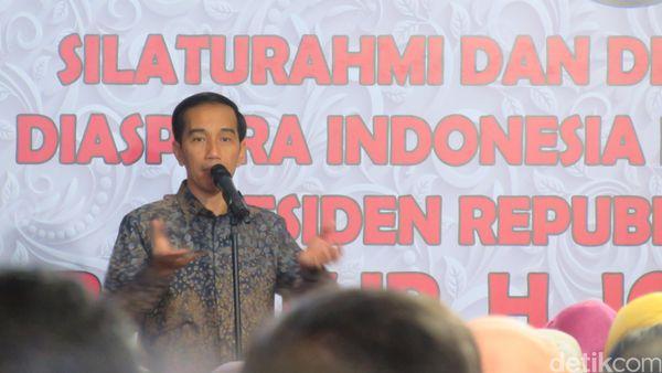 Cerita Lucu Jokowi Disetiri Pangeran Abu Dhabi ke Diaspora Qatar