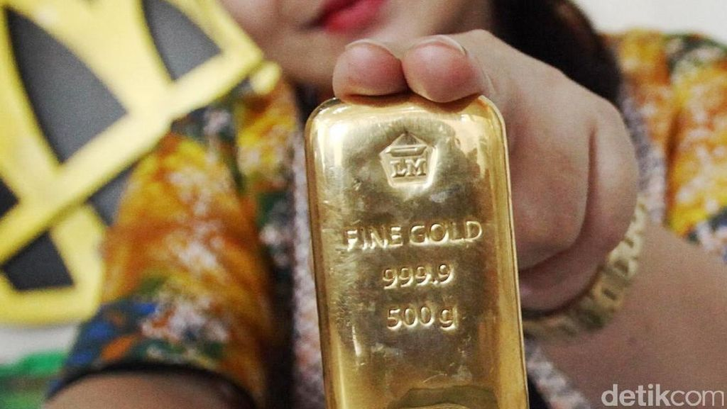 Harga Emas Antam Turun Goceng ke Rp 752.000/Gram
