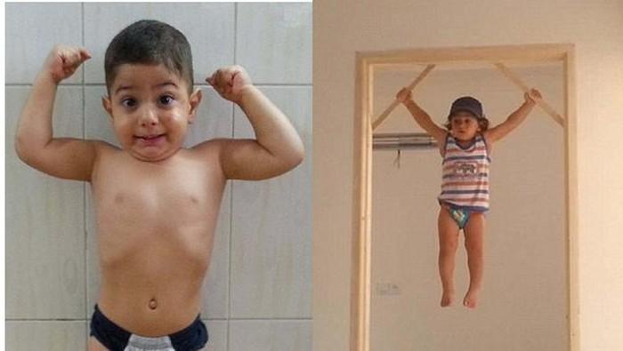 Arat Hosseini, bocah yang hobi merayap di tembok. (Foto: Instagram)