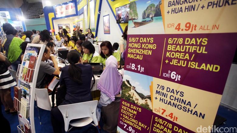 Garuda Indonesia Travel Fair (GATF) kembali digelar di Jakarta. Pameran ini untuk memfasilitasi masyarakat untuk mendapatkan harga tiket dan paket wisata yang menarik namun dengan harga terjangkau. Rachman Haryanto/detikcom.