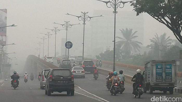 DOK.detikcom/kabut asap di Pekanbaru/Foto: Chaidir Anwar Tanjung