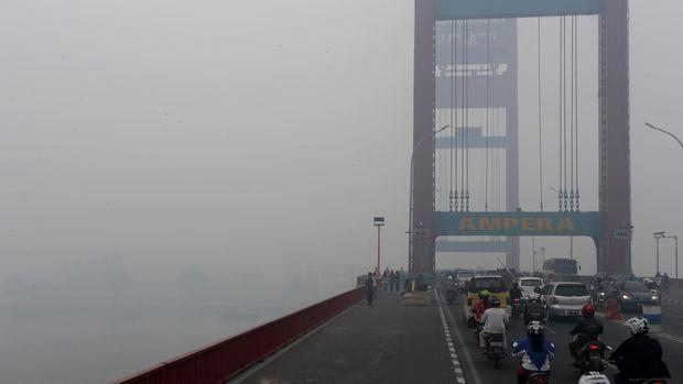 Prabowo Kampaye di Palembang, Jembatan Ampera Ditutup