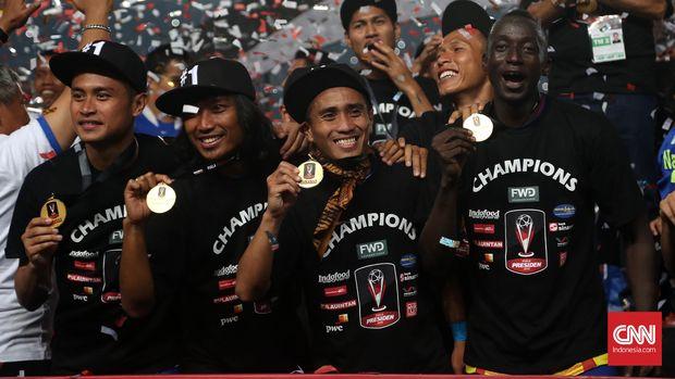Makan Konate pernah merasakan gelar Piala Presiden bersama Persib Bandung.