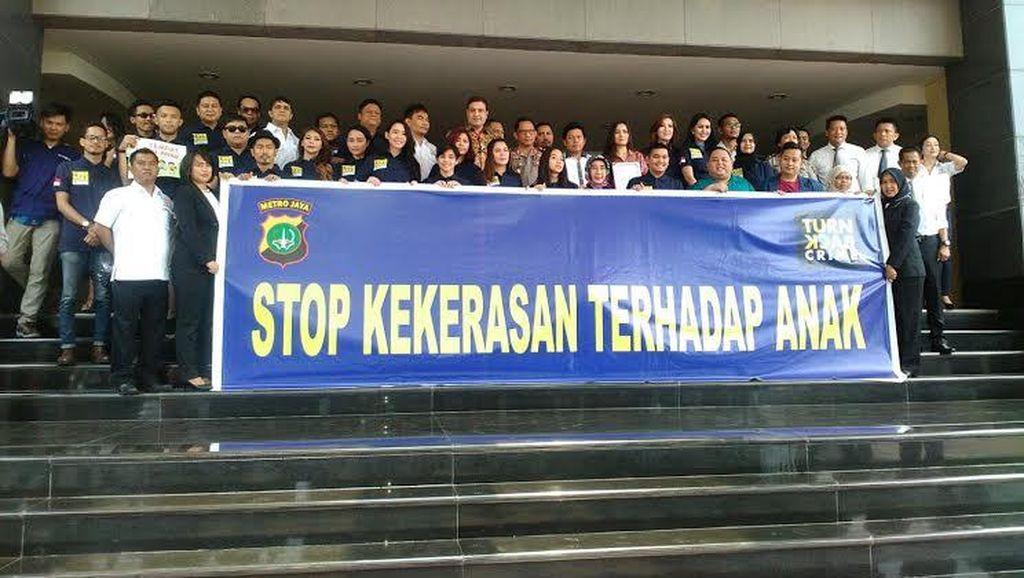 Polisi Gandeng Artis Ibu Kota Deklarasikan Stop Kekerasan Anak