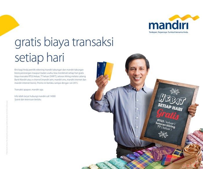 Gratis Biaya Transaksi Di Bank Mandiri