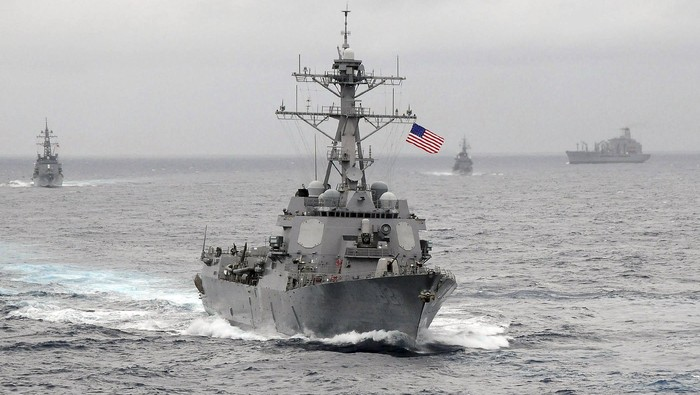 The US Navy guided-missile destroyer USS Lassen sails in the Pacific Ocean in a November 2009 photo provided by the U.S. Navy. The U.S. Navy sent a guided-missile destroyer within 12 nautical miles of artificial islands built by China in the South China Sea on October 27, 2015, a U.S. defense official said, in a challenge to Chinas territorial claims in the area. The official said the USS Lassen was sailing near Subi and Mischief reefs in the Spratly archipelago, features that were submerged at high tide before China began a massive dredging project to turn them into islands in 2014.  REUTERS/US Navy/CPO John Hageman/Handout via Reuters ATTENTION EDITORS - FOR EDITORIAL USE ONLY. NOT FOR SALE FOR MARKETING OR ADVERTISING CAMPAIGNS. THIS IMAGE HAS BEEN SUPPLIED BY A THIRD PARTY. IT IS DISTRIBUTED, EXACTLY AS RECEIVED BY REUTERS, AS A SERVICE TO CLIENTS      TPX IMAGES OF THE DAY