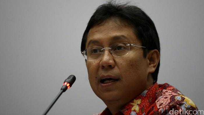 Dirut Bank Mandiri Budi G Sadikin saat melakukan paparan kinerja triwulan III/2015 di Jakarta, Kamis (29/10/2015). Agung Pambudhy/detikcom.
