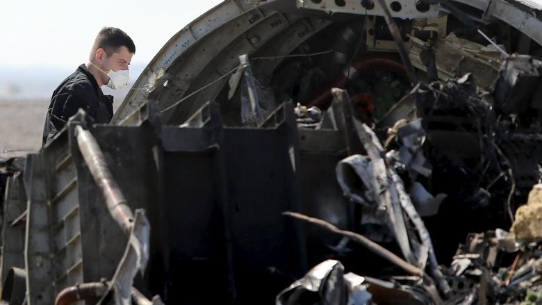 Bom yang Jatuhkan Pesawat Maskapai Rusia Diletakkan di Kabin Dekat Ekor