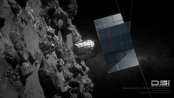 Ilustrasi menambang asteroid. Foto: Deep Space Industries