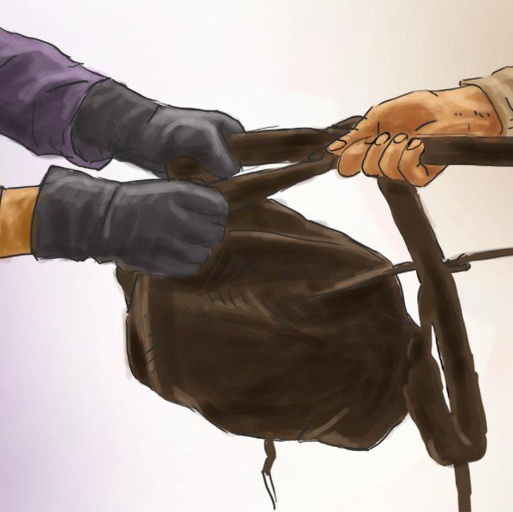 Diburu Polisi, Penjambret Sadis di Garut Ngumpet di Kandang Sapi