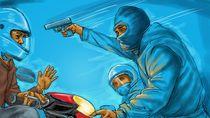 Tegang! Pemotor di Palembang Duel dengan Begal Bersenjata Api