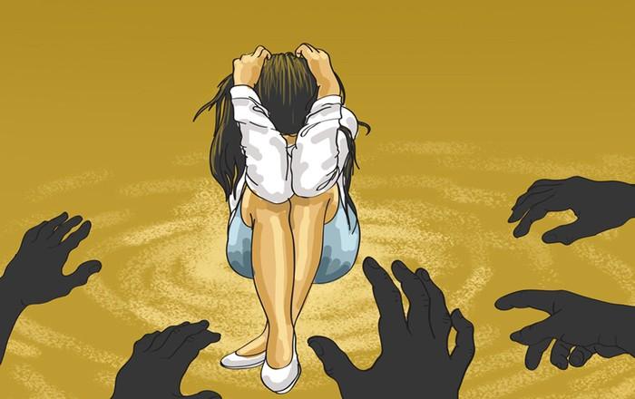 Ilustrasi pemerkosaan. Ilustrasi oleh Edi Wahyono