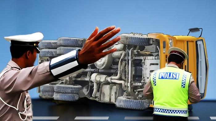 Ilustrasi kecelakaan truk