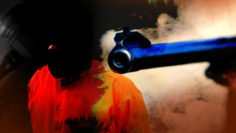 Polisi Tembak Begal Sadis di Makassar