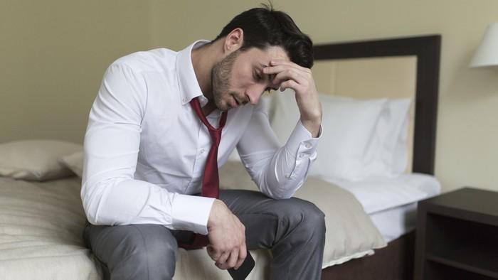 ilustrasi pria sedih