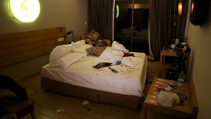 Salah satu kamar hotel yang diserang/Foto: Reuters