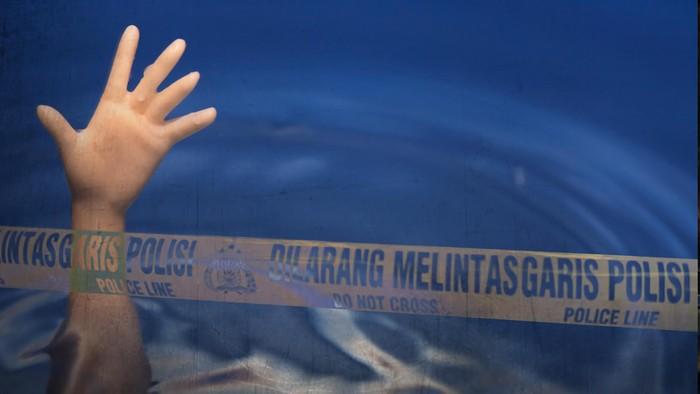 Ilustrasi korban tenggelam