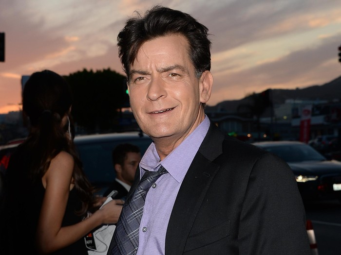 HOLLYWOOD, CA - APRIL 11:  Actor Charlie Sheen arrives at the Dimension Films Scary Movie 5 premiere at the ArcLight Cinemas Cinerama Dome on April 11, 2013 in Hollywood, California.  (Photo by Jason Merritt/Getty Images)