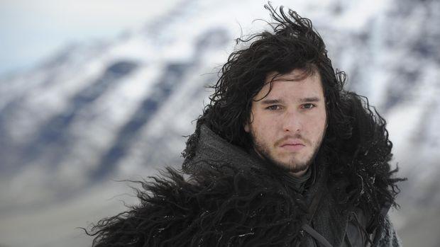 Kit Harinton saat menjadi Jon Snow di 'Game of Thrones'.