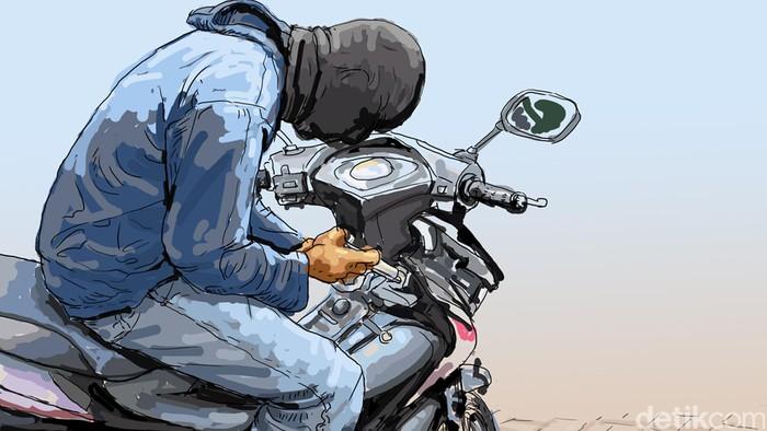 Ilustrasi Pencurian Moto