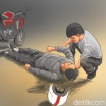 Cara Gotong Korban Kecelakaan Lalu Lintas, Perhatikan Kepala