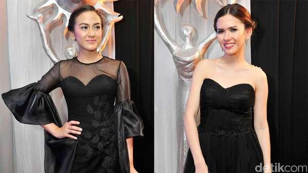 Nina Zatulini dan Michelle Joan Anggun Bergaun Hitam
