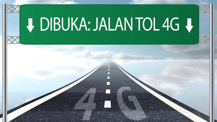 Jalan tol 4G sudah dibuka.