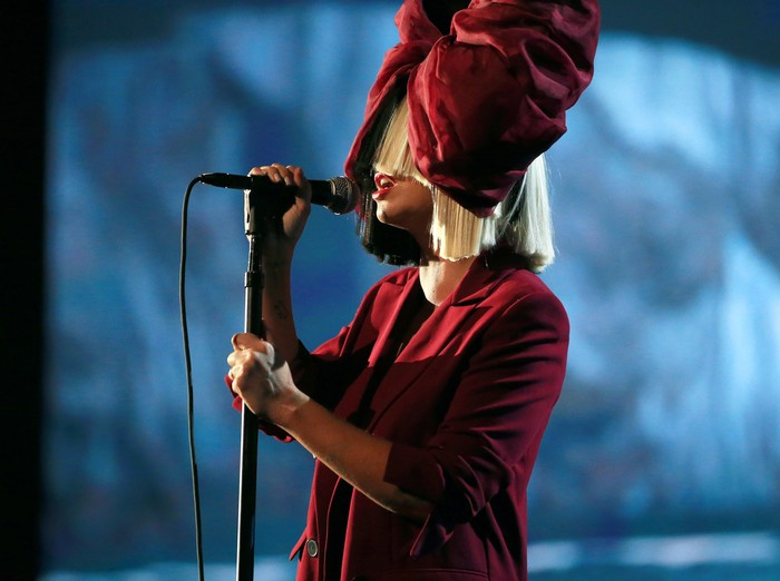 LOS ANGELES, CA - NOVEMBER 18: Recording artist Sia performs onstage at A+E Networks