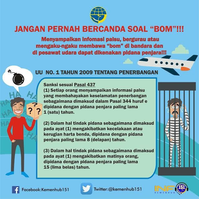 Awas! Bercanda Bawa Bom Seperti Penumpang AirAsia Bisa Dipenjara