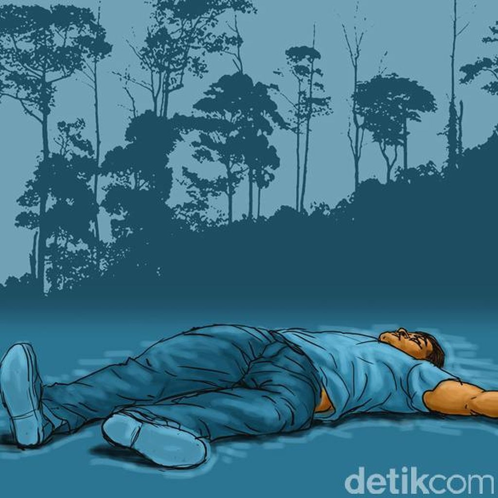 Pria Ini Ditemukan Meninggal dengan Posisi Duduk di Atas Pohon