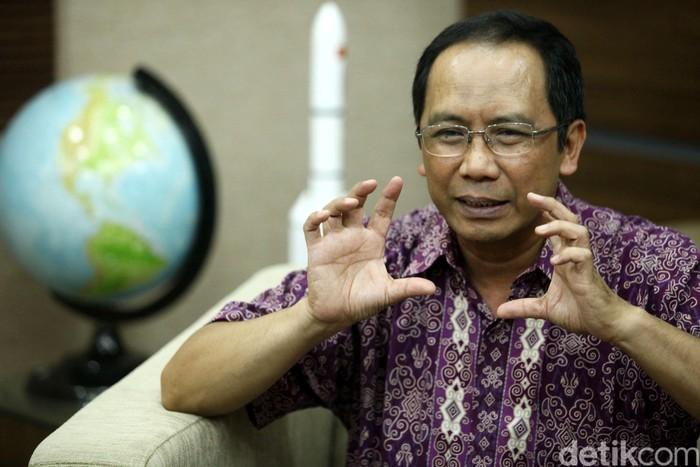 Kepala Lembaga Penerbangan dan Antariksa Nasional (Lapan) Thomas Djamaluddin. Grandyos Zafna/detikcom.