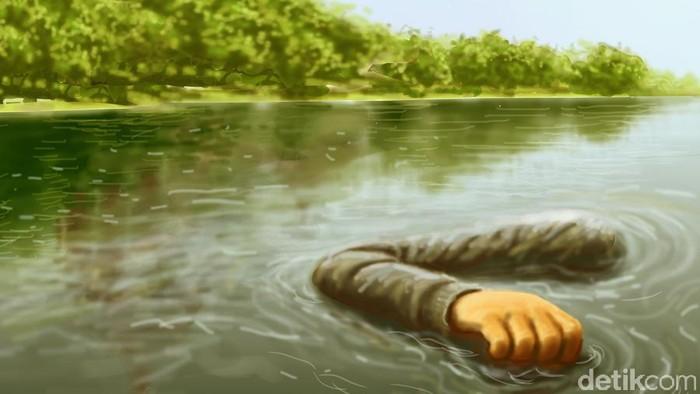 Ilustrasi mayat tenggelam