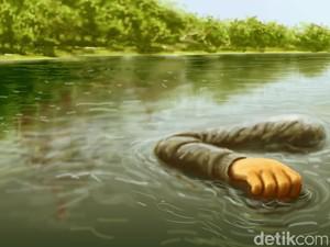 Mayat Nyaris Bugil Ditemukan Mengapung di Sungai Kuala Simpang