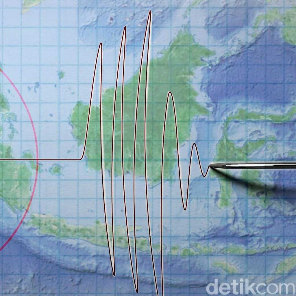 Gempa M 5,0 Guncang Maluku Tengah