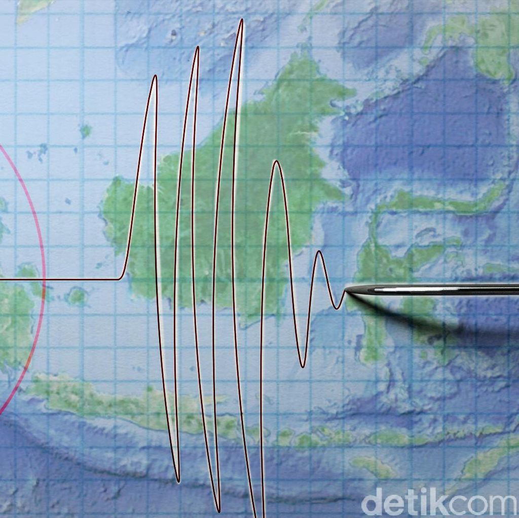 Maluku 2 Kali Diguncang Gempa Malam Ini