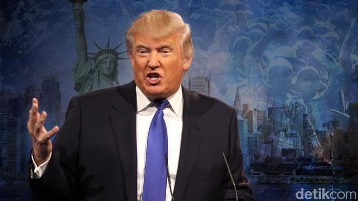 Ilustrasi Donald Trump