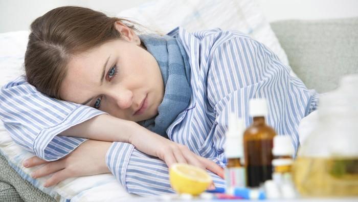 Ilustrasi wanita sakit. Foto: Thinkstock