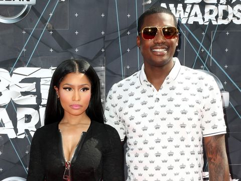 LOS ANGELES, CA - JUNE 28:  Recording artists Nicki Minaj and Meek Mill attend the 2015 BET Awards at the Microsoft Theater on June 28, 2015 in Los Angeles, California.  (Photo by Frederick M. Brown/Getty Images for BET)