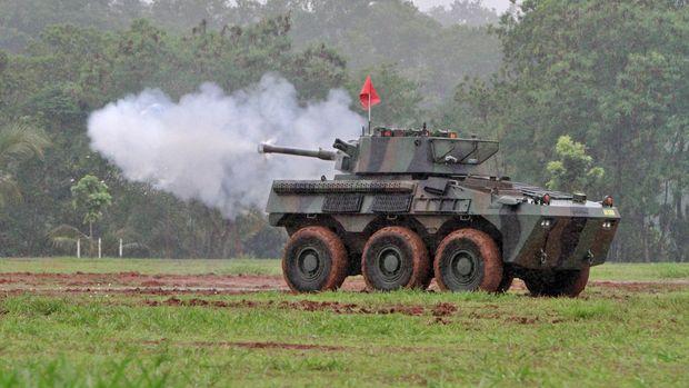 Panser Kanon 90 mm, 'Badak', buatan PT Pindad (Persero)