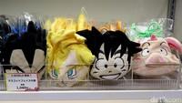 Tas kecil berbentuk wajah Luffy dan Goku itu dijual dengan harga 1.080 yen atau sekitar Rp 125 ribu.