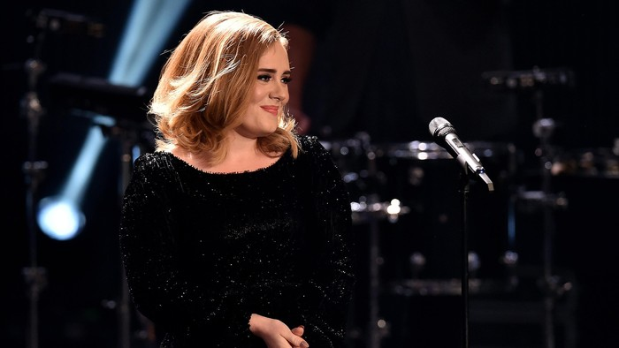 COLOGNE, GERMANY - DECEMBER 06:  Adele attends the television show 2015! Menschen, Bilder, Emotionen - RTL Jahresrueckblick on December 6, 2015 in Cologne, Germany.  (Photo by Sascha Steinbach/Getty Images)