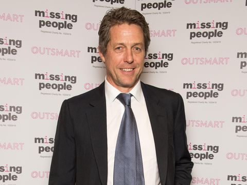 LONDON, UNITED KINGDOM - NOVEMBER 05:  Hugh Grant arrives for the 'Home for Christmas' fundraising dinner and auction in aid of Missing People at the Corinthia Hotel on November 05, 2015 in London, England.  (Photo by Nicky J. Sims/Getty Images)