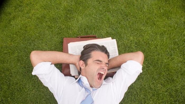 Menguap bukan cuma karena mengantuk. Foto: Thinkstock