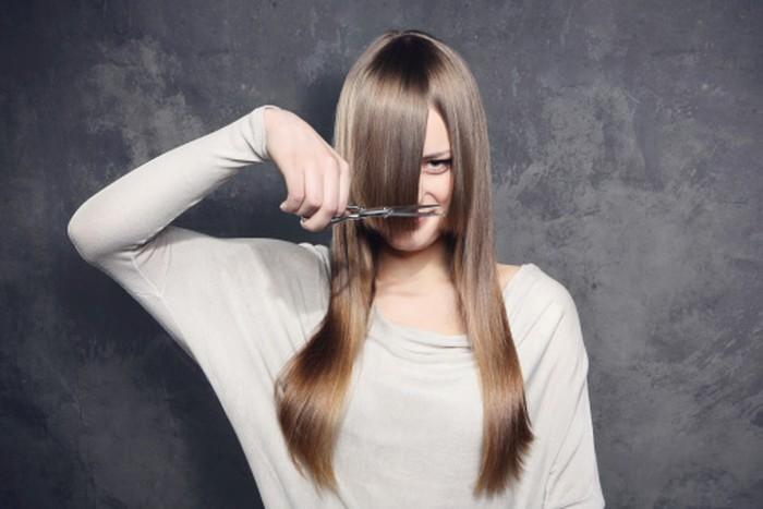 Young Woman at Hair Salon