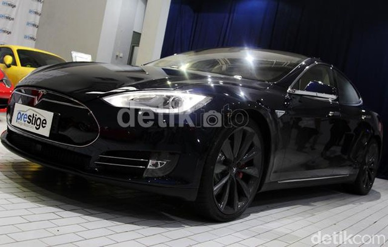 lustrasi Tesla Model S Foto: Rangga Rahadiansyah