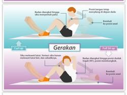 Infografis: Membandingkan Curl Up dan Sit Up Penuh